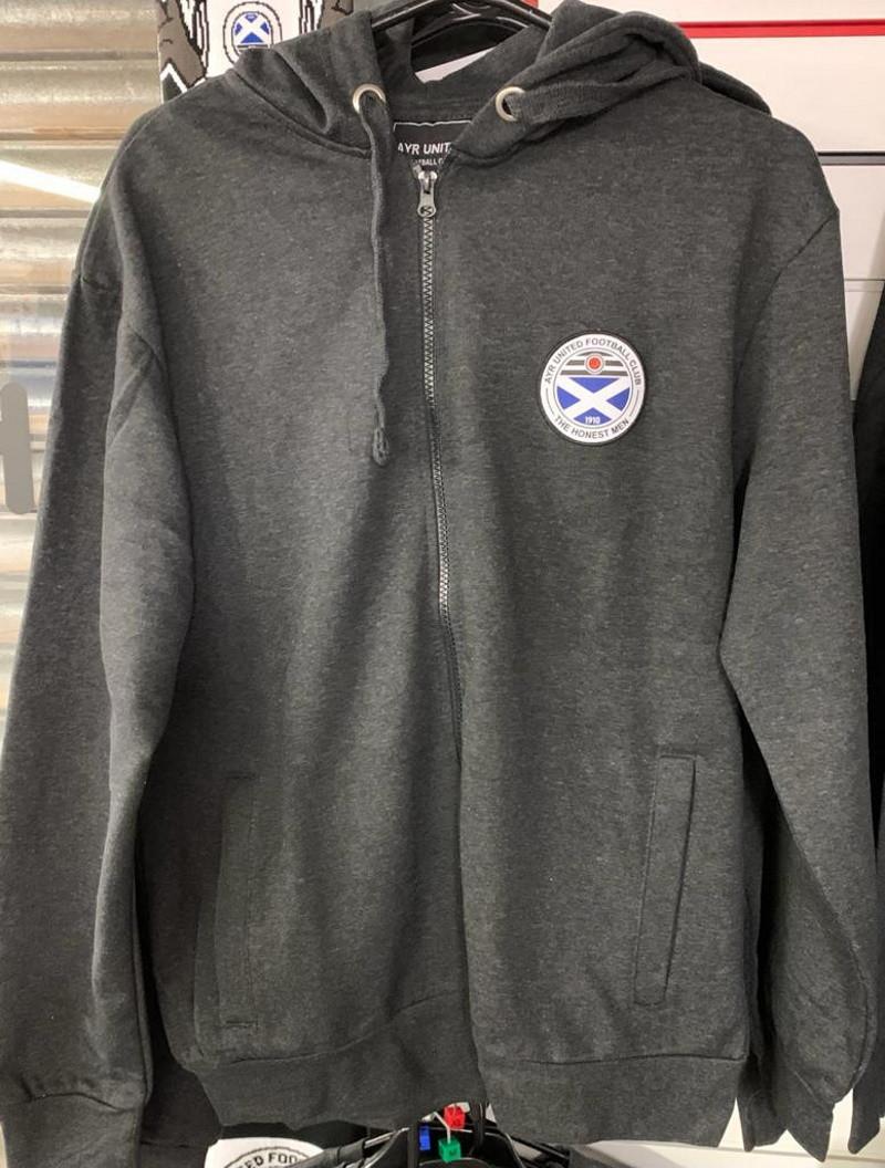 Full Zip Charcoal Hoody (XXXL)