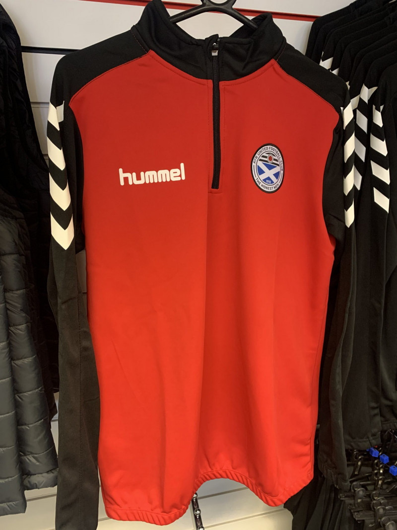 Hummel Core 1/2 Zip Red/Black Youth (Size 164-176)