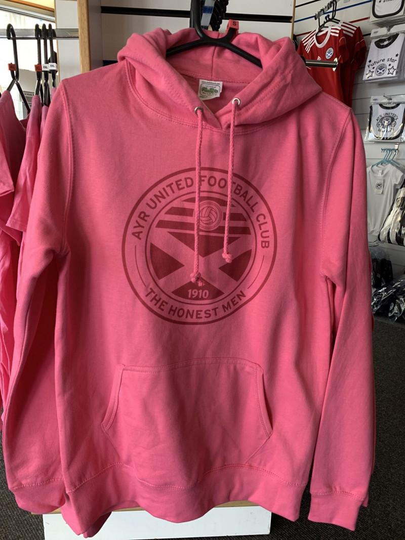 Ladies Pink Hoody (Large)